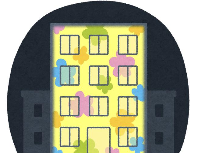 旧山崎家別邸プロジェクションマッピング イメージイラスト