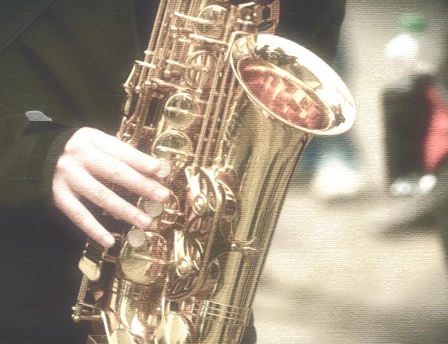 お寺でジャズ イメージフォト