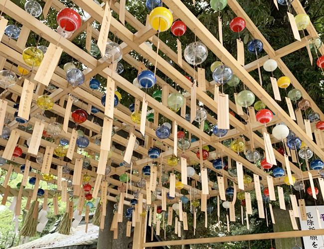 川越氷川神社 縁むすび風鈴の風景 その1