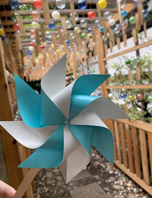 川越氷川神社で頒布されたかざぐるま