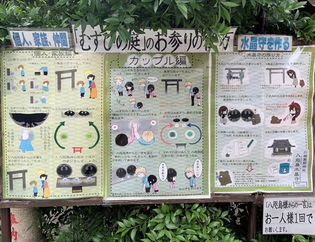 川越熊野神社 むすひの庭の参拝の仕方