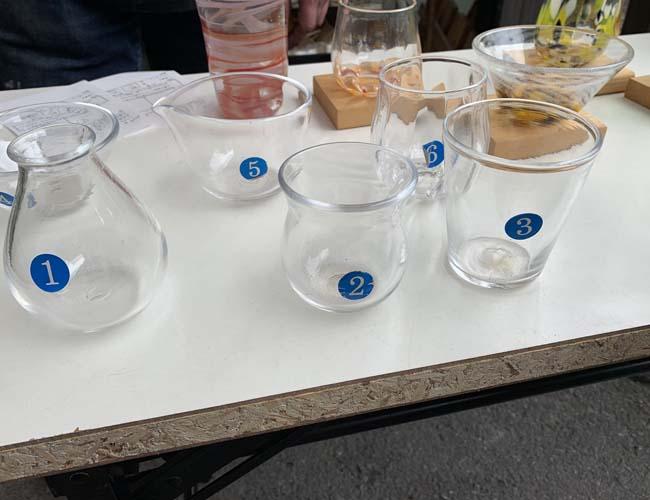 ブルームーン 吹きガラス体験