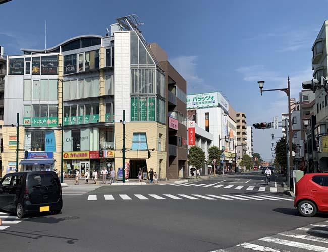 本川越駅前の交差点