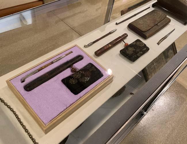 川越歴史博物館 煙管の展示