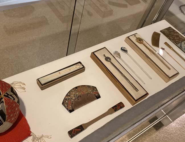 川越歴史博物館 かんざしの展示