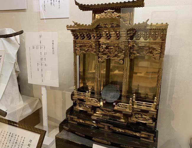 川越歴史博物館 仏壇の展示