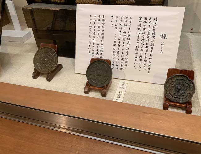 川越歴史博物館 鏡の展示
