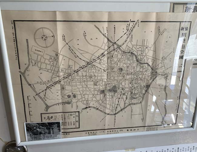 川越歴史博物館 80年前の川越の地図