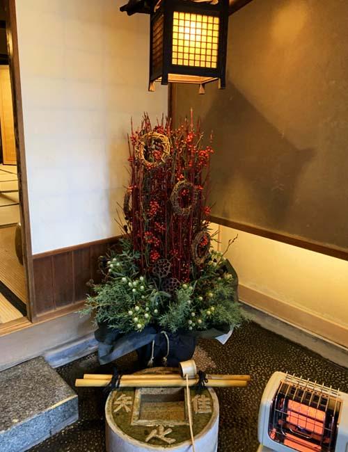 料亭山屋のクリスマスツリー