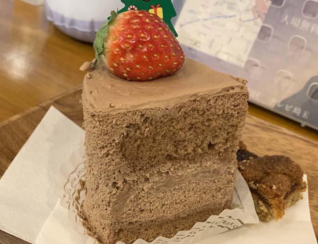 チョコのショートケーキ