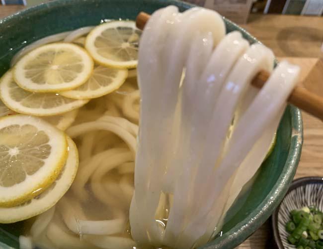 レモンの冷かけうどん