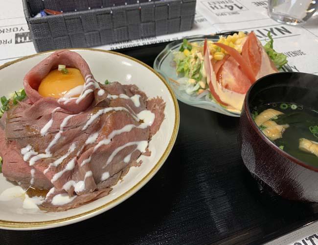 カフェ翠屋のローストビーフ丼
