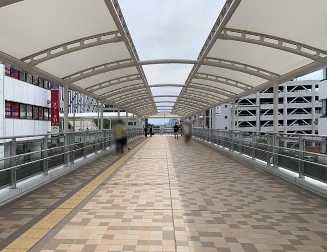 川越駅西口ペディストリアンデッキ