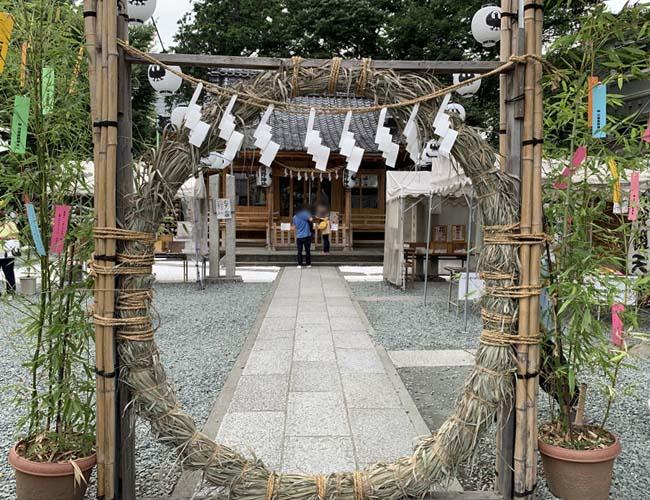 熊野神社の茅の輪くぐり