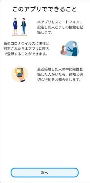 接触確認アプリ使用開始手順