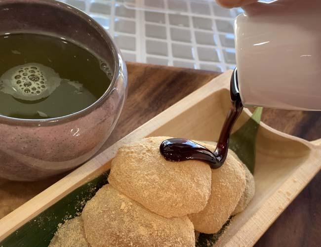 月うさぎ わらび餅煎茶付