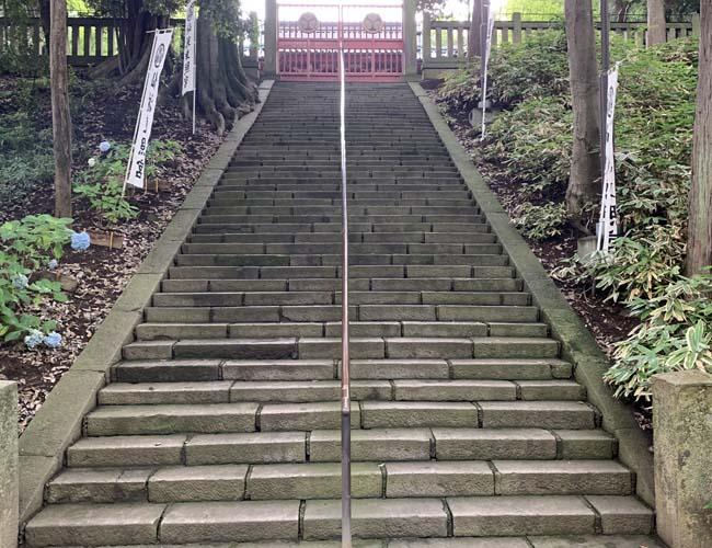 仙波東照宮 本殿へとつづく階段