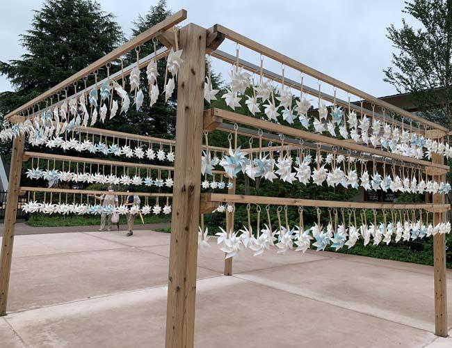 川越氷川神社 かざぐるまの飾りつけ